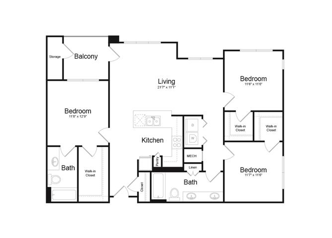 Floor plan at Trellis, Arizona, 85022