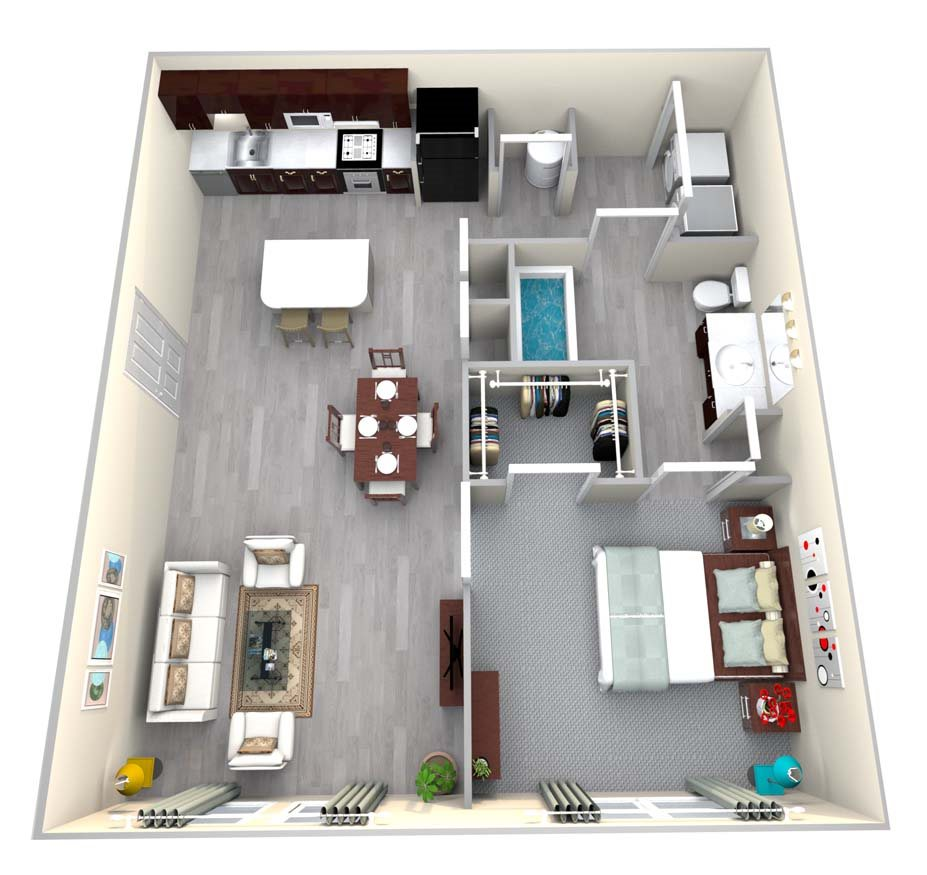 1, 2 & 3 Bedroom Apartments in Gainesville, GA | Walton Summit