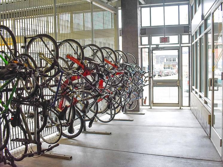 Bike Storage, Walnut on Highland in Pittsburgh, Pennsylvania