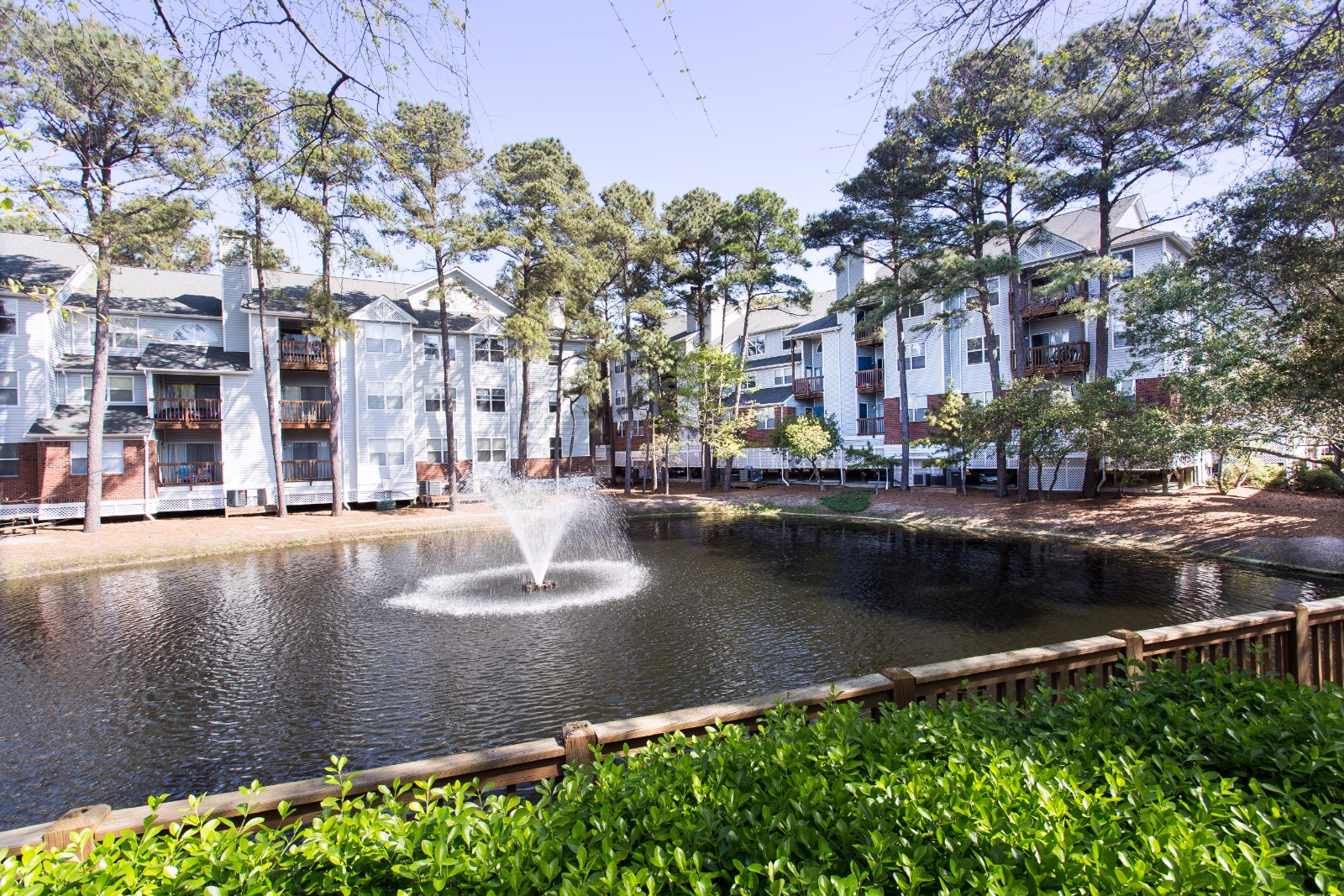 Beautiful Garden with Fountain at Marina Shores Apartment Homes, Virginia Beach, 23451