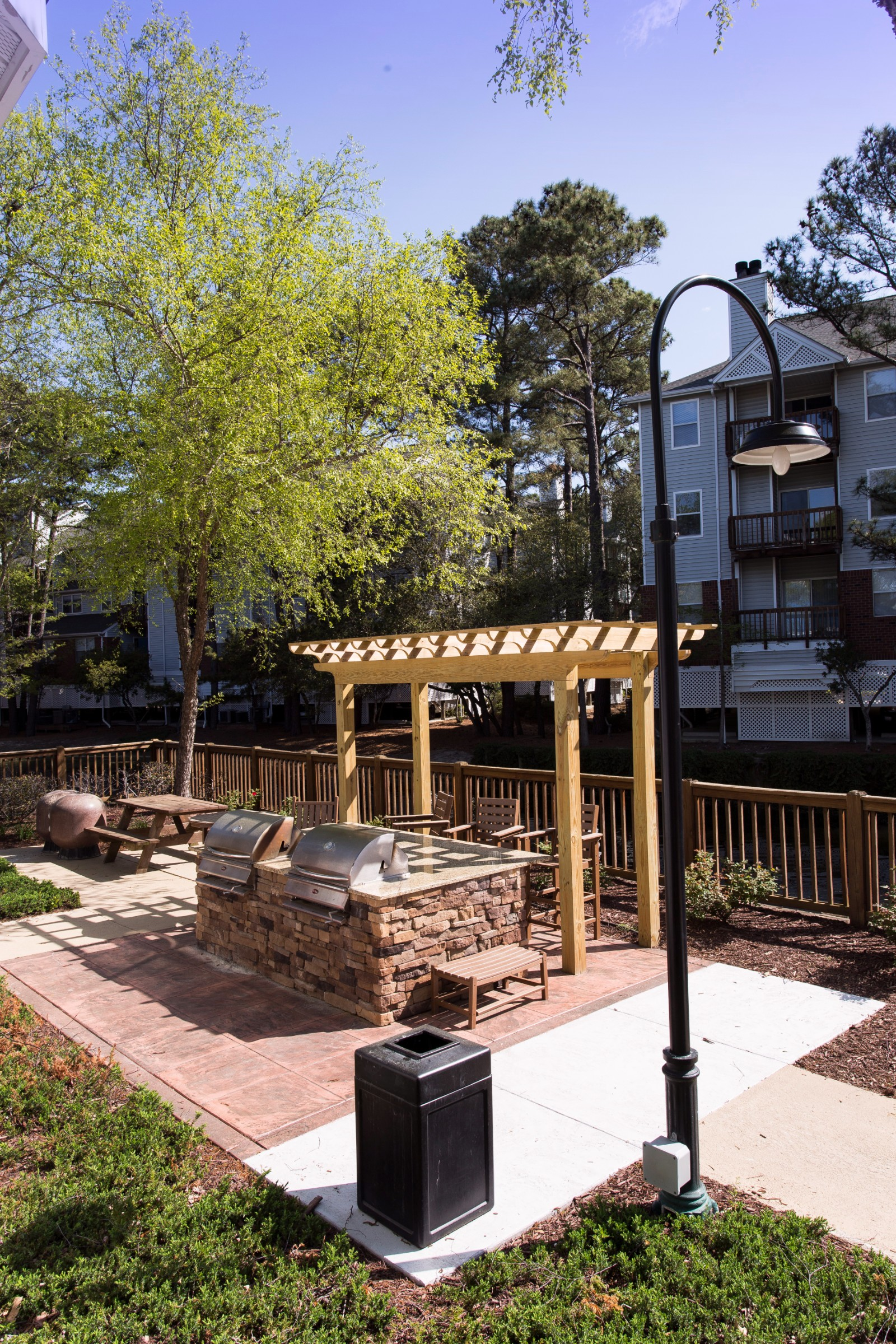 Outdoor Grilling Station Pavilion at Marina Shores Apartment Homes, Virginia Beach, Virginia