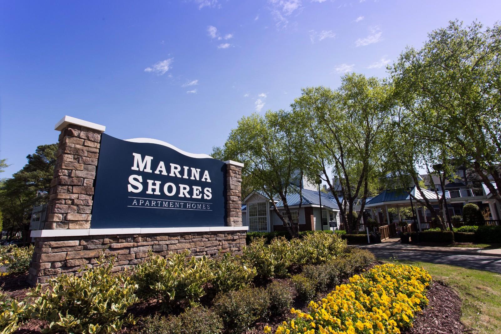 Beautiful Landscaping and Park-like Setting at Marina Shores Apartment Homes, 2257 Willow Oak Circle, Virginia Beach