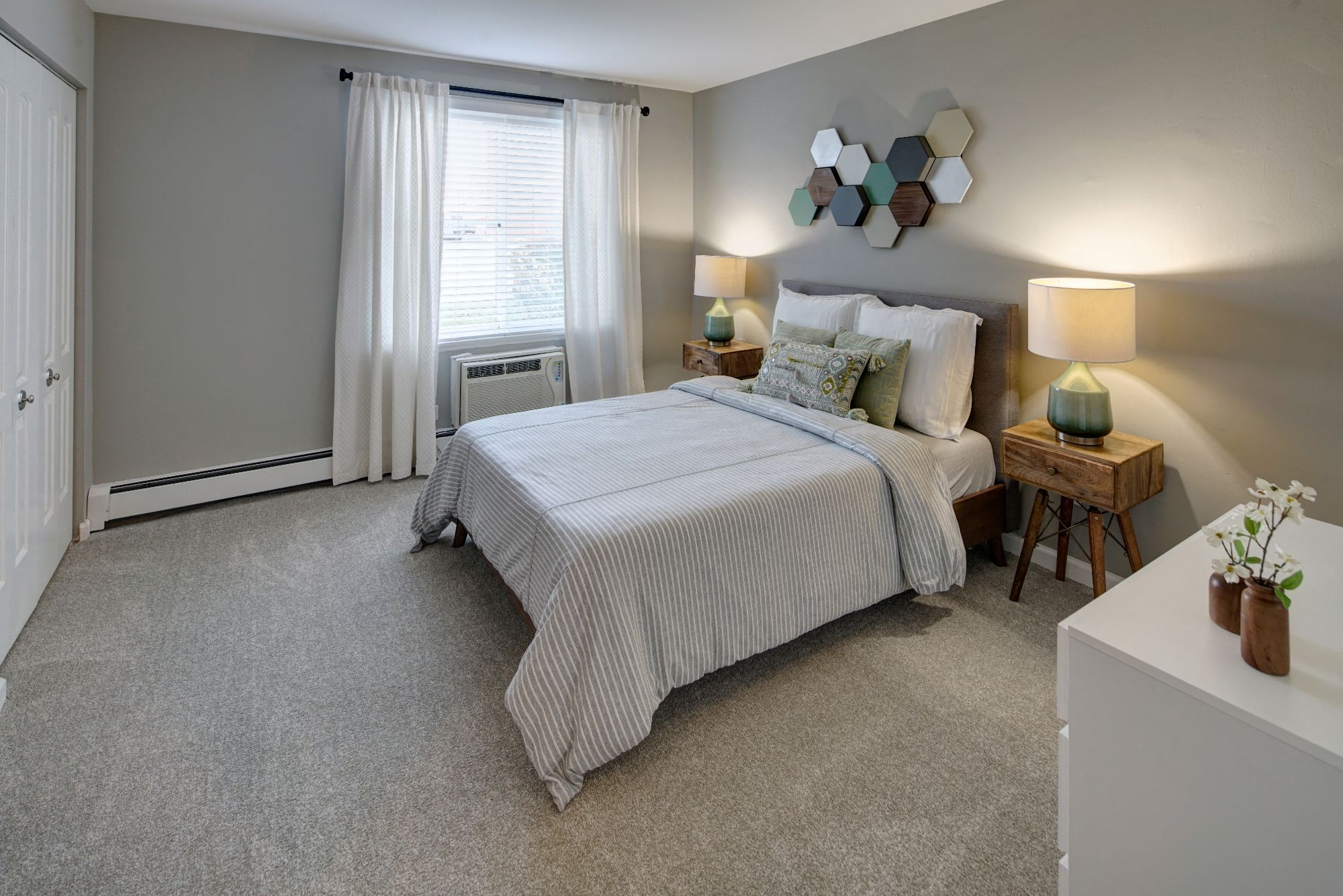 Apartment Master Bedroom at Carol Stream Crossing, Carol Stream, Illinois