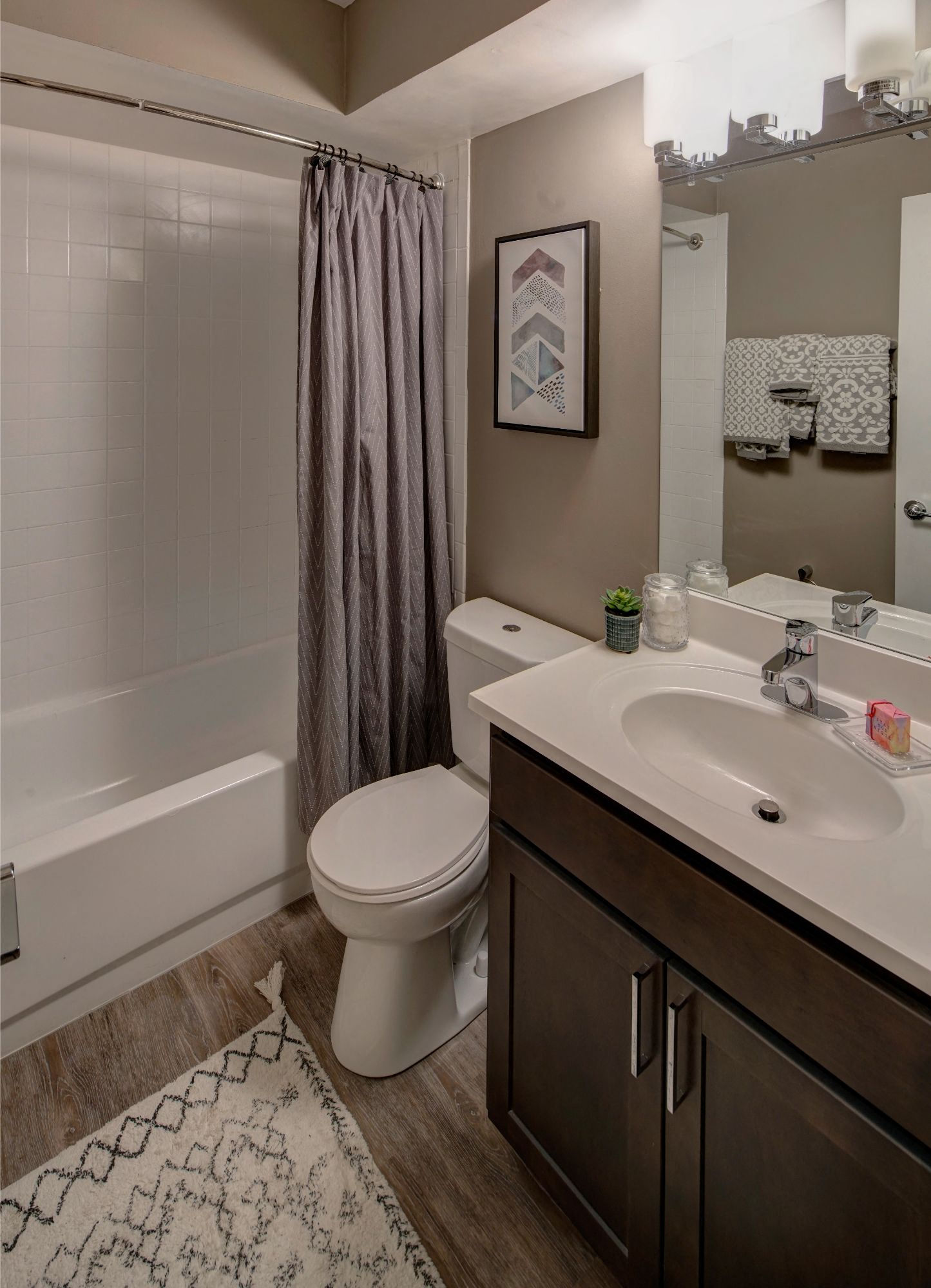Custom Look Bathroom at Carol Stream Crossing, Carol Stream