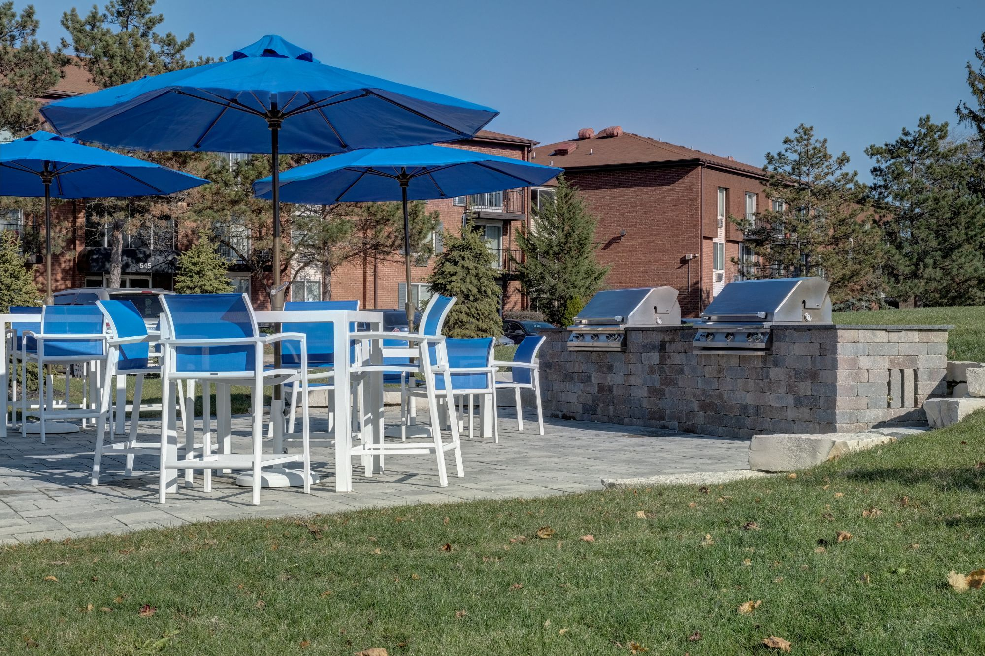 Picnic Area with BBQ Grills at Carol Stream Crossing, Carol Stream, IL