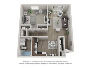 Birch Layout Floor Plan at Carol Stream Crossing, 535 Thornhill Drive, Carol Stream, Illinois