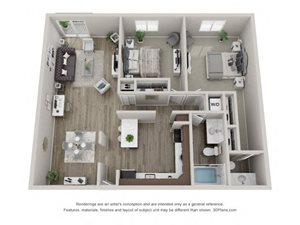 Hawthorne Layout Floor Plan at Carol Stream Crossing, 535 Thornhill Drive, Carol Stream, Illinois