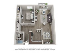Oak Layout Floor Plan at Carol Stream Crossing, 535 Thornhill Drive, Carol Stream, Illinois