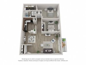 Pine Layout Floor Plan at Carol Stream Crossing, 535 Thornhill Drive, Carol Stream, Illinois