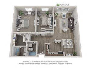 Spruce Layout Floor Plan at Carol Stream Crossing, 535 Thornhill Drive, Carol Stream, Illinois