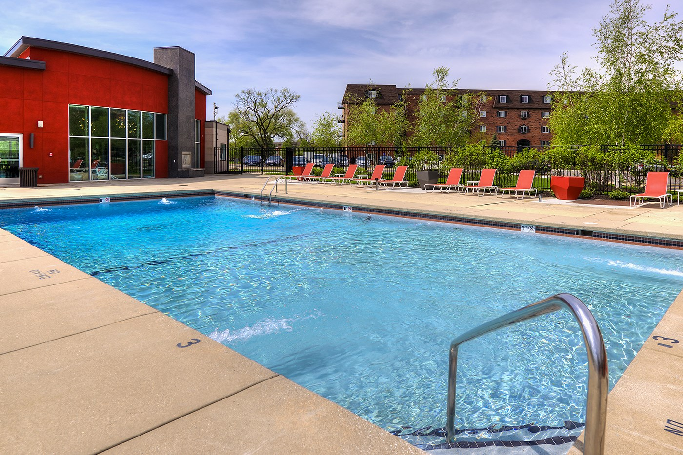 Pool Side Relaxing Area, at Carol Stream Crossing, Illinois, 60188