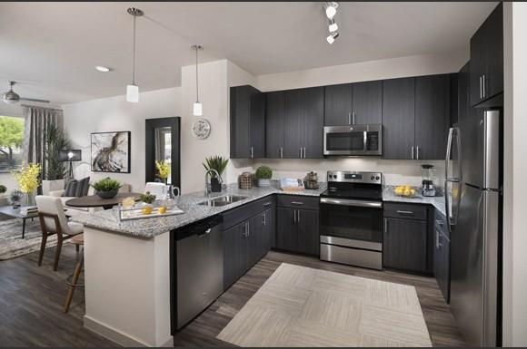 Interior Kitchen At Parc Midtown Phoenix Arizona