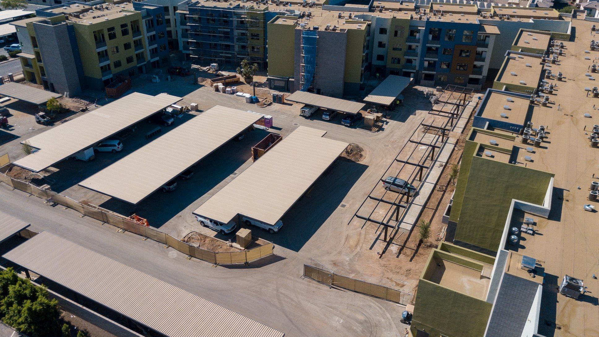 Apartment Complex In Construction  Parc Midtown In Phoenix