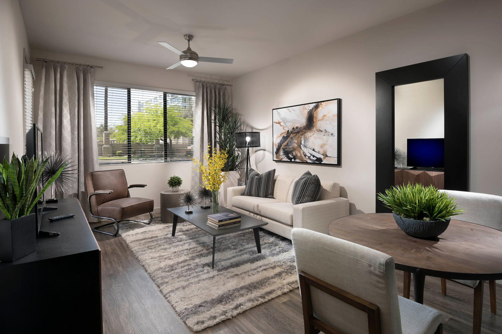Living Room At Parc Midtown, Phoenix, Arizona