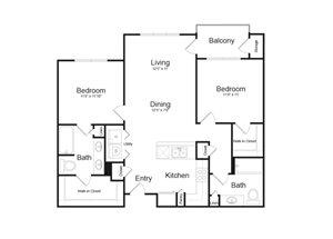 Floor Plan at Parc Midtown, Phoenix, 85013