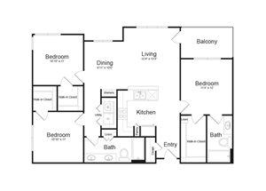 Floor Plan at Parc Midtown, Phoenix