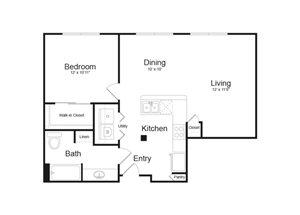 Floor Plan at Parc Midtown, Arizona, 85013