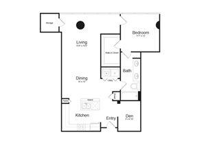 Floor Plan at Parc Midtown, Phoenix, AZ 85013