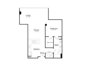 Floor Plan at Parc Midtown, Phoenix, AZ