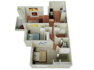 Floor plan at The Edge, Davis, 95618