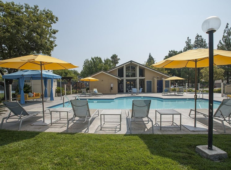 Swimming Pool with Lounge Chairs at The Edge, Davis, CA 95618
