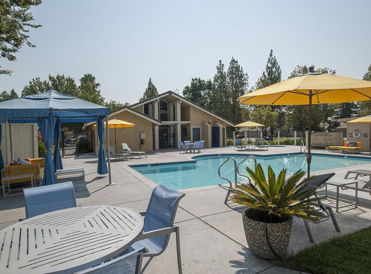 Upscale Lap and Lounge Swimming Pools with Cabana at The Edge, Davis, 95618