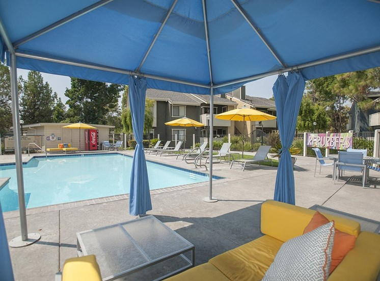Modern Pool with Cabana at The Edge, Davis, CA 95618