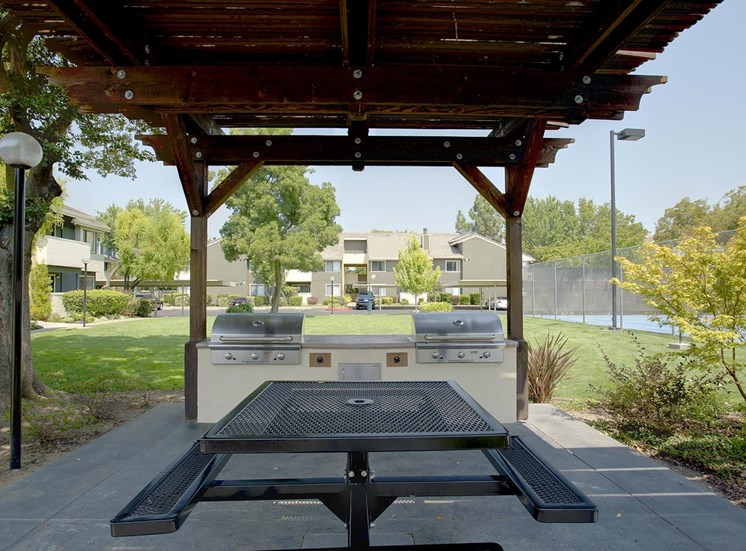 Specious Lawn with Grilling Station at The Edge, Davis