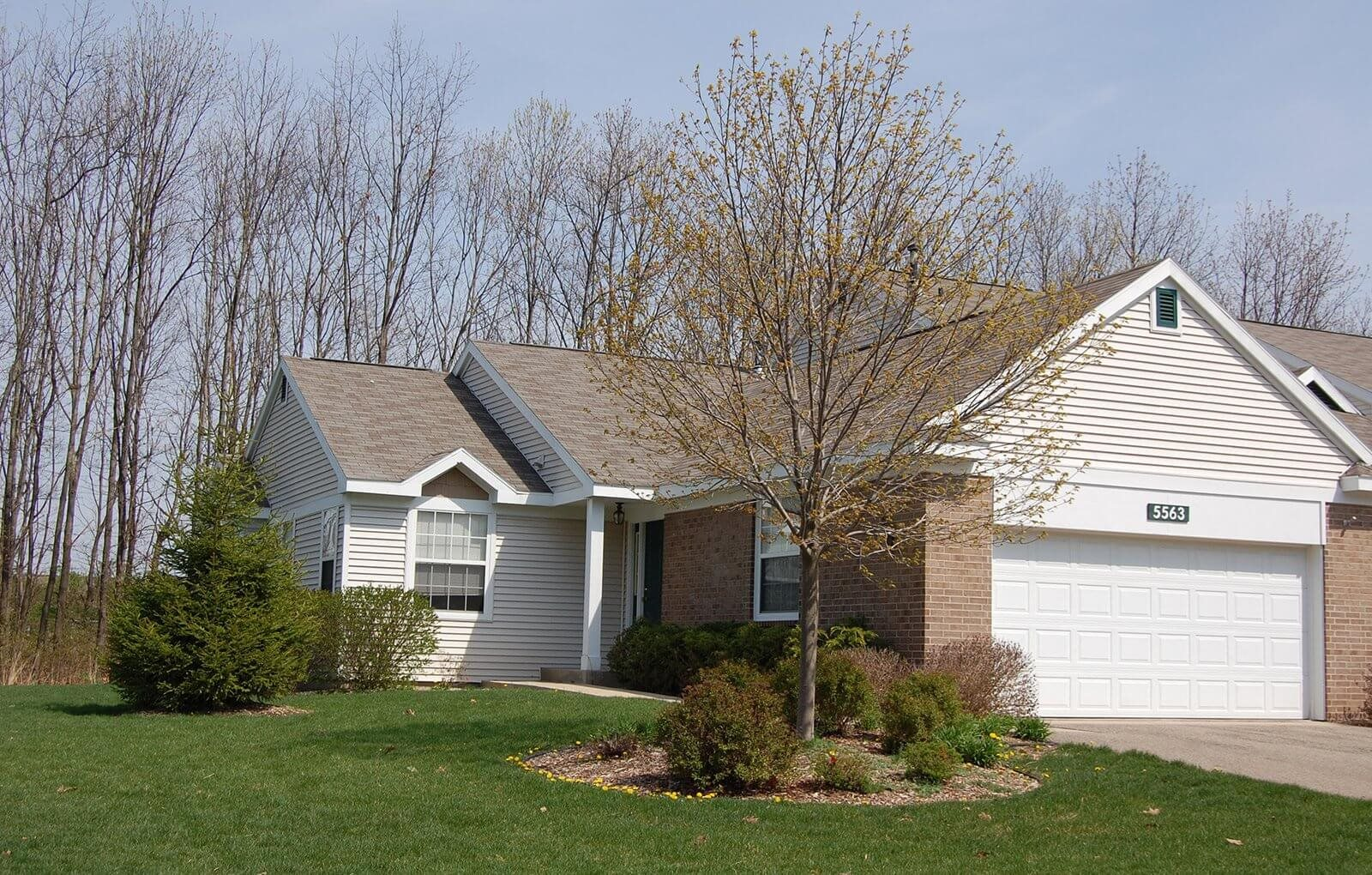 Attached Garages to Townhomes at Gull Prairie/Gull Run Apartments and Townhomes, Kalamazoo, MI