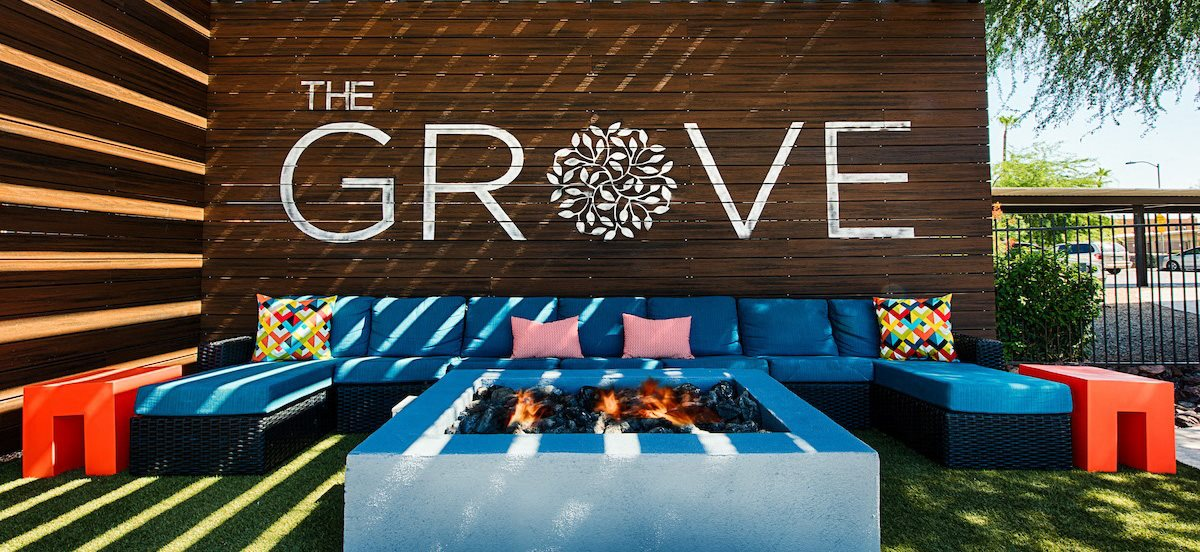 Picturesque Fire-pit And Cabana Setting at The Grove Deer Valley, Phoenix, Arizona