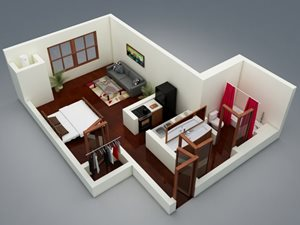 Capitol on 28th 3D Floor Plan - The Arts