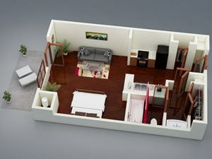 Capitol on 28th 3D Floor Plan - The Heritage