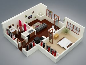 Capitol on 28th 3D Floor Plan - The Mesta