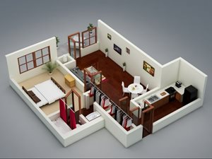 Capitol on 28th 3D Floor Plan - The Paseo