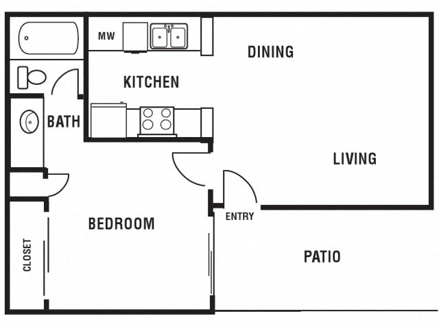 Princeton Club Apartments Lenox Floor Plan