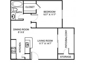 Remington Place Apartments 1 Bedroom 1 Bath 551 Square Feet