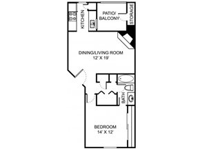 Remington Place Apartments 1 Bedroom 1 Bath 673 Square Feet