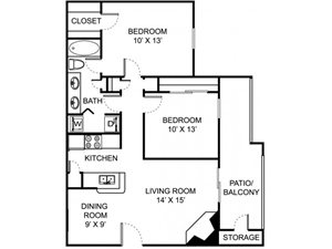 Remington Place Apartments 2 Bedroom 1 Bath 855 Square Feet