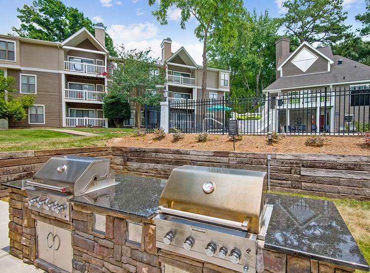 2 Grills at Sommerset Place Apartments in Raleigh NC