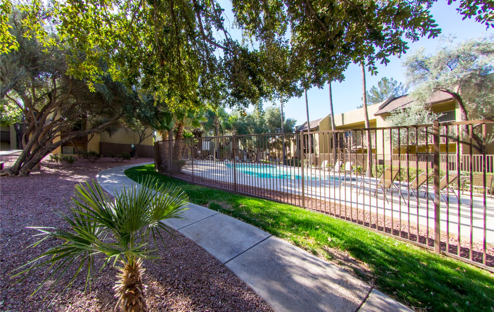 Exterior & Landscaping at River Oaks Apartments in Tucson, AZ