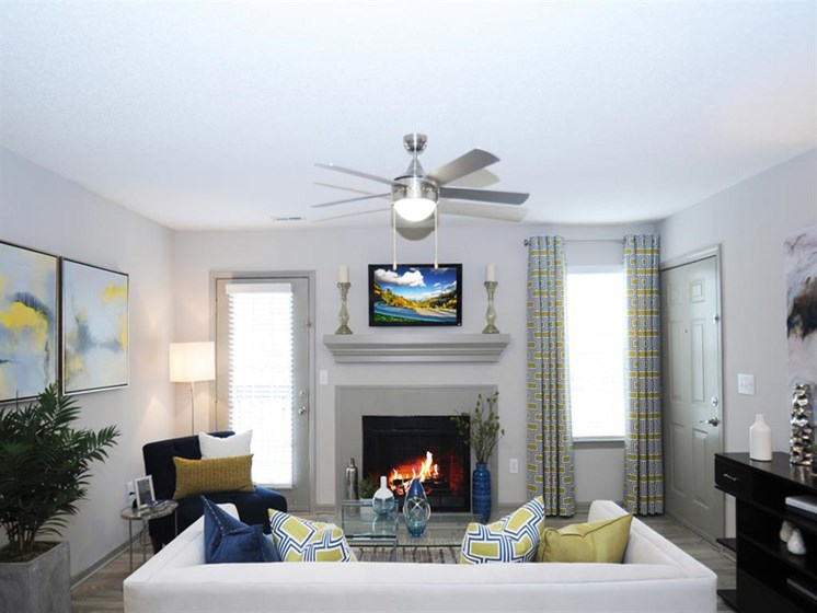 Fireplace in Select Apartments