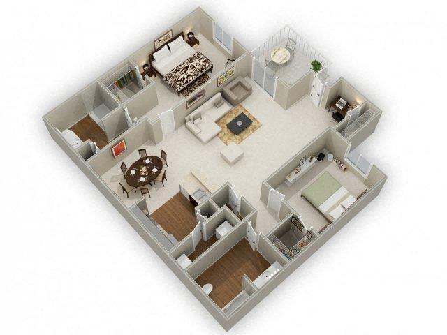 Oak Floor Plan 5