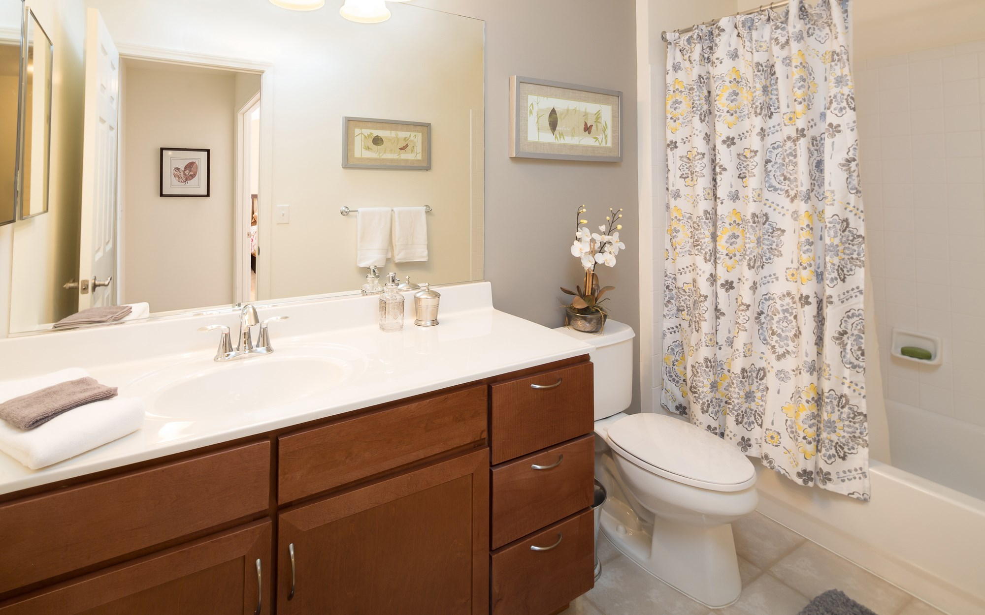Bathroom at Huntington Townhomes in Shelton, CT
