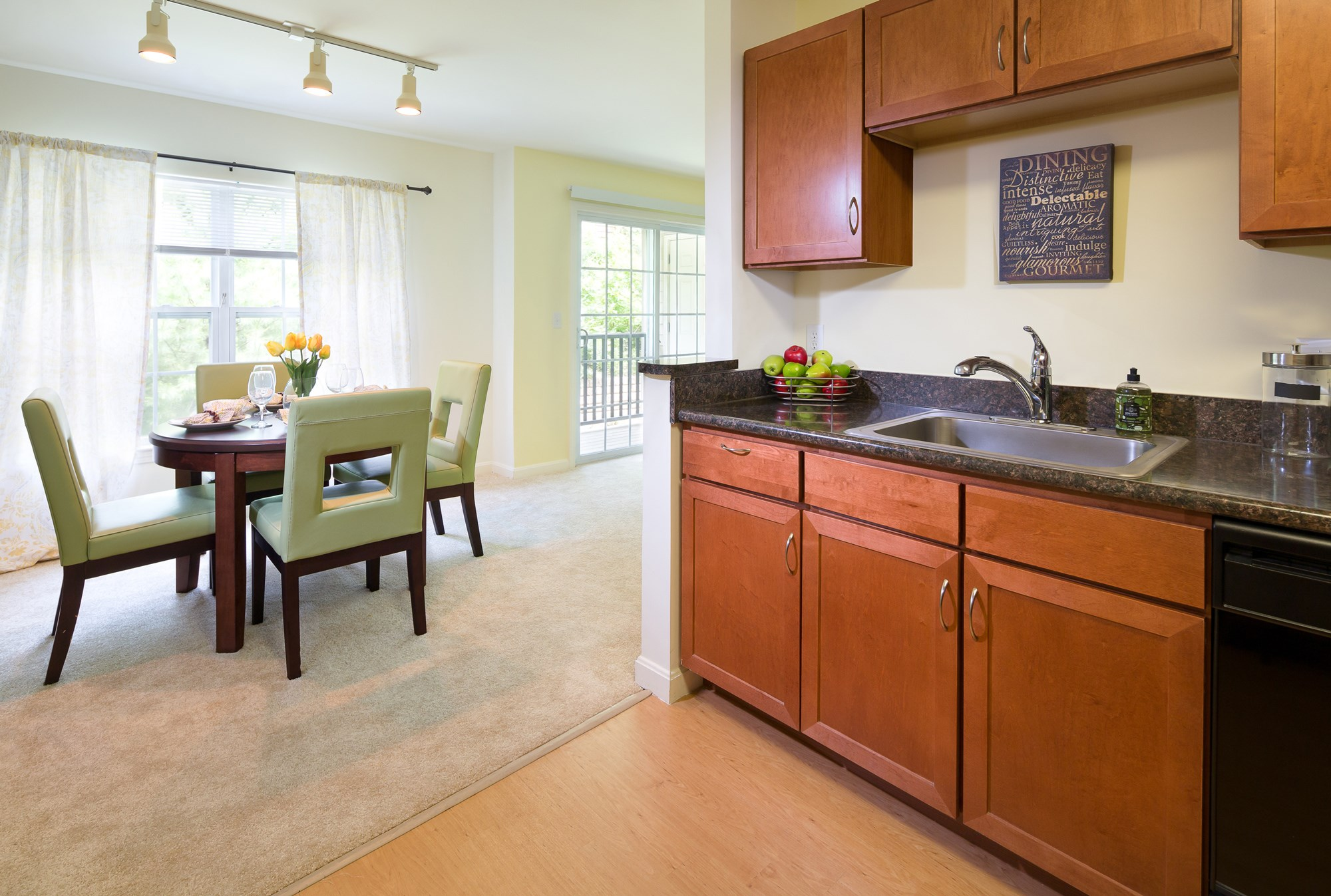 Kitchen and Dining area at Huntington Townhomes in Shelton, CT
