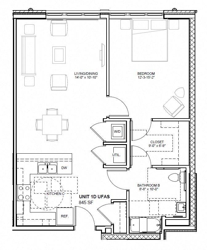 1D Floor Plan 4
