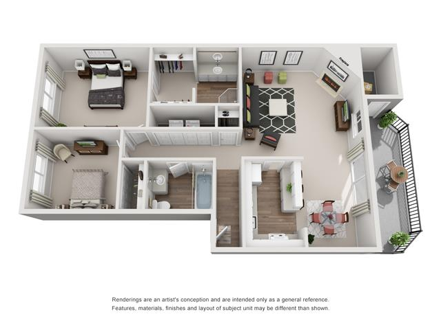 Floor plan at Canyon Park, Beaverton, OR