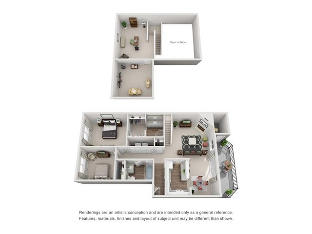 Floor plan at Canyon Park, Beaverton,Oregon