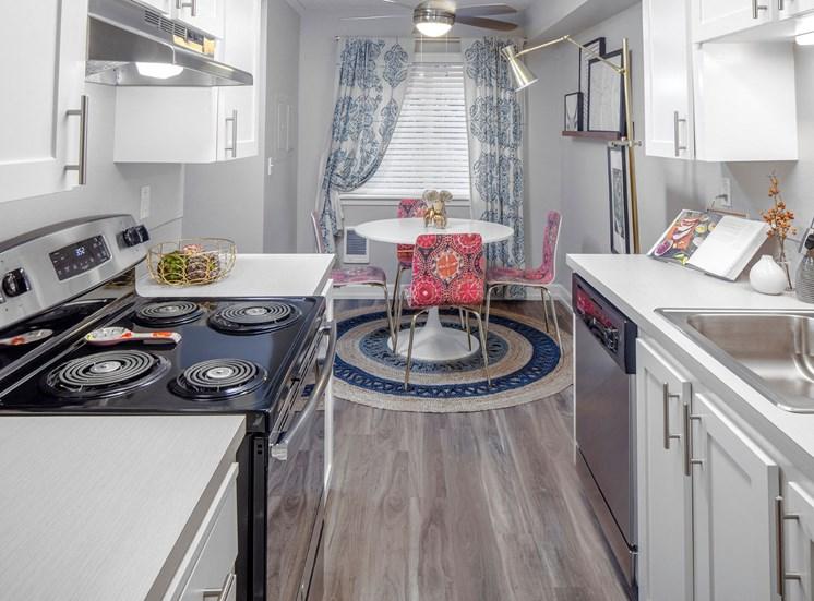 Fully-equipped kitchen at Canyon Park, Beaverton,Oregon