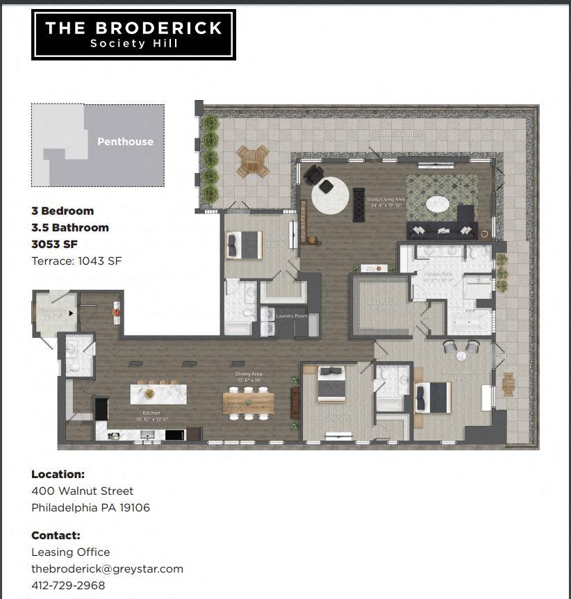 1 2 3 bedroom apartments in philadelphia the broderick - One bedroom apartments in philadelphia ...