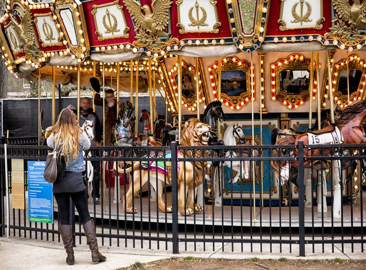 historic carousel in philadelphia near apartment complex